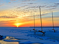 Iceboats at dawn